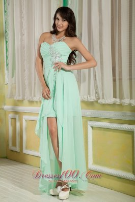 Hi Lo Prom Dress Empire Beaded Appliques
