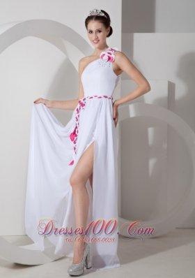 Handmade Prom Dress White Prom Dress Front Split