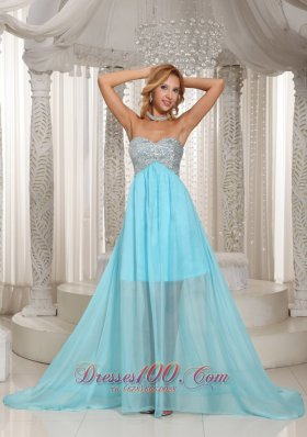 Brush Aqua Sweetheart Prom Dress With Beading