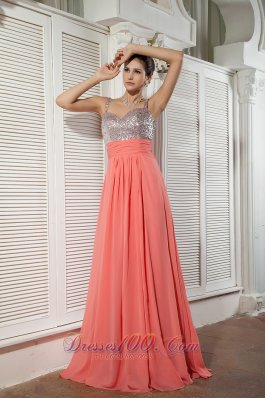Heavy Beading Watermelon Red teenager prom Holiday Dress