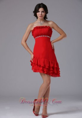 Asym Hemline Beading Waistband 2013 Homecoming Dress