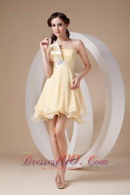 Empire A-line Prom Dress Beading Mini-length