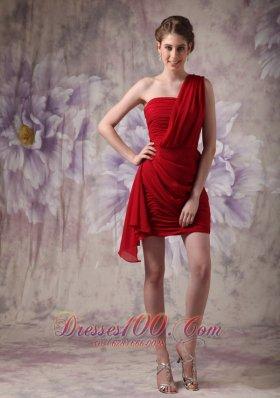 Bandage Style Column One Shoulder Prom Dress