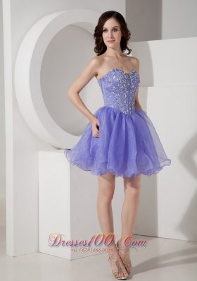 Short Prom Dress Beading Bodice Mini Sweetheart