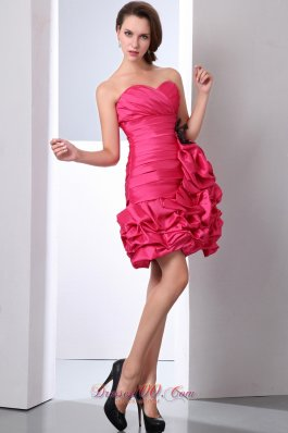 Coral Red Column Short Prom Dress Beading Mini