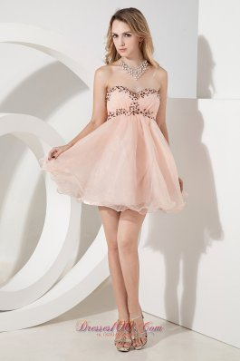 Beading Empire Short Prom Dress Princess Sweetheart