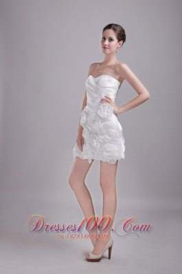 Hand Flowers Prom Homecoming Dress Princess Sweetheart