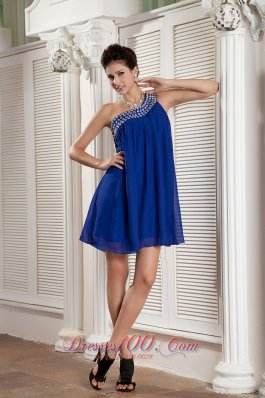 Peacock Blue Loose Empire Prom Homecoming Dress