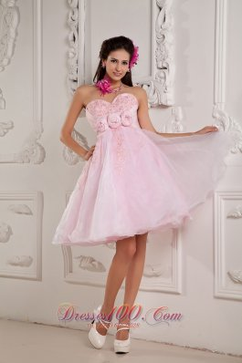 Baby Pink A-line / Princess Sweetheart Cocktail Dress