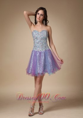 Colorful Mini Leopard and Organza Prom Homecoming Dress