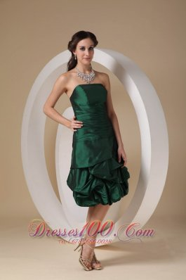 Ruffles Column Knee-length Prom / Homecoming Dress