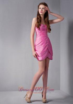 Ties Prom Dress Column Sweetheart Mini Appliques