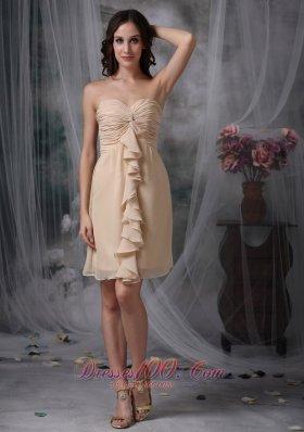 Swirl Pattern Front Sheath Mini Ruch Prom Dress
