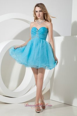 2017 Aqua Blue Cocktail Dresses