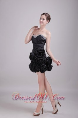 Sexy Ruched Prom Nightclub Gown Sweetheart Mini-length Satin