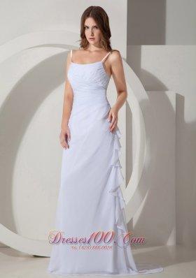Beautiful Wedding Dress Straps Chiffon Ruched