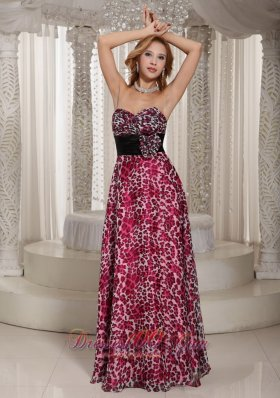 Multi-color Empire Sweetheart Floral Prom Gown