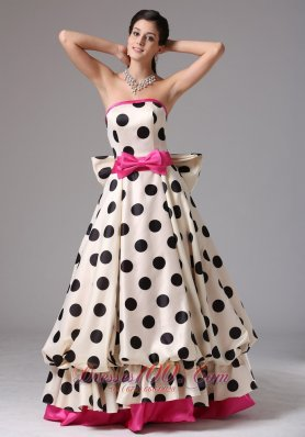 Multi-color Prom Graduation Dress Bows Strapless