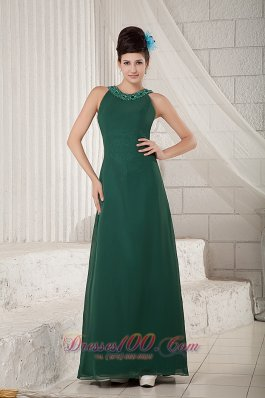 Dark Green Mother Of The Bride Dress Empire Scoop