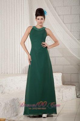 Dark Green Mother Of The Bride Dress Empire Scoop