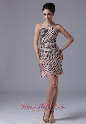 Homecoming Dress Sequins Sweetheart Mini-length Chiffon