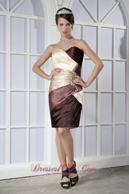 Colorful Sweetheart Mini-length Taffeta Beading Prom Dress