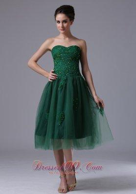 Dama Dresses Dark Green Sweetheart Tulle Short