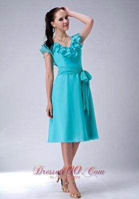 2018 Aqua Blue Prom Dresses