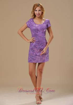 Mini-length Scoop Short Prom Nightclub Dress 2013