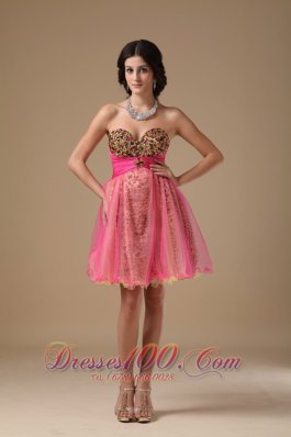 Multi-color Sweetheart Mini-length Organza Prom Nightclub Dress