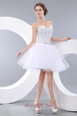 Sweetheart Beading Short Prom / Homecoming Dress