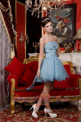 Sweetheart Beading Organza Prom / Homecoming Dress