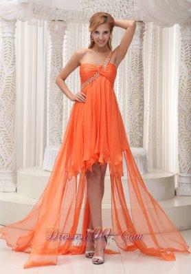 Ruffles Prom / Homecoming Dress Beaded One Shoulder
