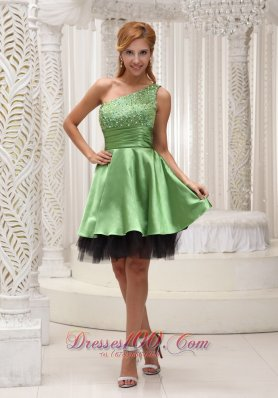 Beaded One Shoulder Different Colors Prom Dress
