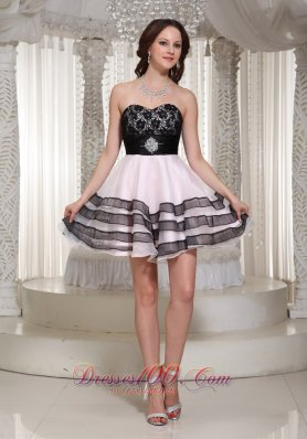 Lace Bodice Sweetheart Prom / Cocktail Dress A-line