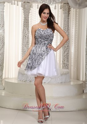 Organza and Zebra Prom / Cocktial Dress Princess