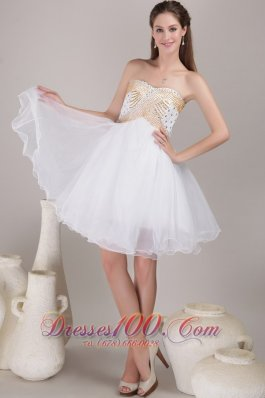 Princess Sweetheart Knee-length Beading Prom Homecoming Dress