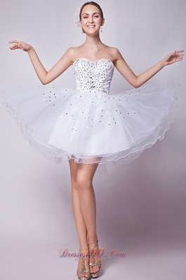 A-line Prom Dress Beading Mini-length