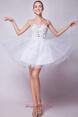 A-line Prom Dress Beading Mini-length