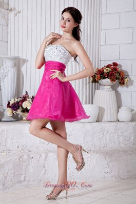 Short Prom / Homecoming Dress Beading Mini A-line