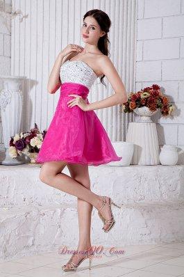 Short Prom / Homecoming Dress Beading Mini A-line