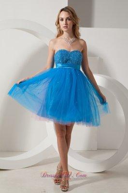Beading Short Prom DressTaffeta and Tulle