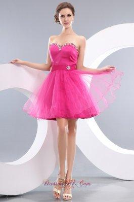Princess Beading Belt Short Prom / Homecoming Dress