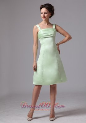Straps A-line Bridesmaid Dress Apple Green