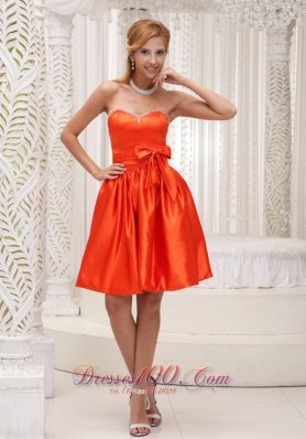 Orange Bowknot Bridesmaid Dress 2013