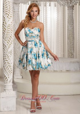 Floral Printing Colorful Prom / Cocktail Dress For Party