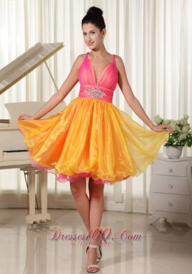 Colorful Princess Prom Dress Beaded Decorate Waist