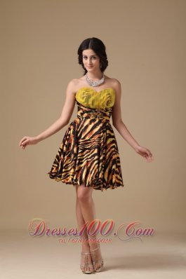 Leopard Beading Prom Dress Multi-color Mini