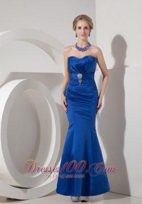 Royal Blue Evening Dress Mermaid Sweetheart Beaded