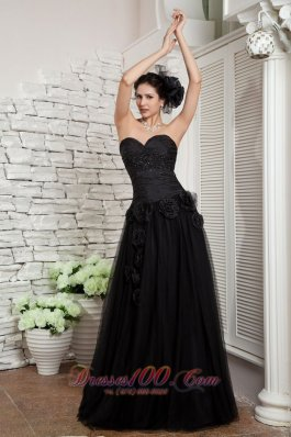 Black Empire Little Black Evening Dress Beading Sweetheart